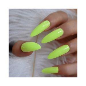 CoolNail Neon Fluorescent Green False Nails