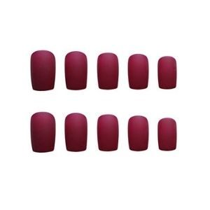 JINDIN 24 Sheet French Matte Fake Nails