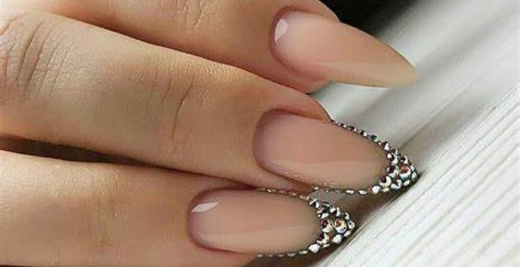 mountain peak shaped nails